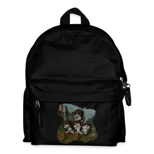 Vier spelende puppies - Kids' Backpack
