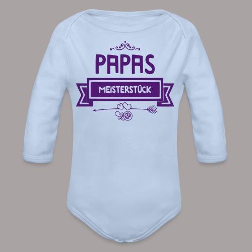 Papas Meisterstück - Baby Bio-Langarm-Body