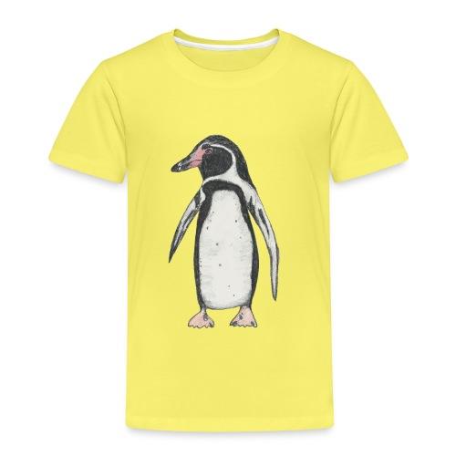 Kinder T-Shirt *Pinguin* gelb - Kinder Premium T-Shirt