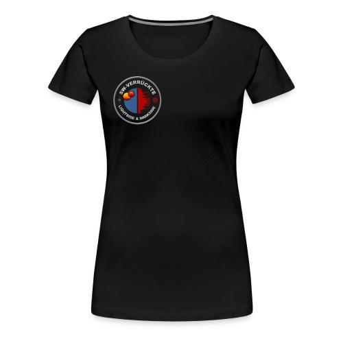 Frauen T-Shirt Schwarz Logo klein - Frauen Premium T-Shirt