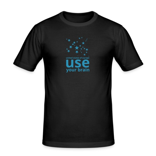 united states of europe - use your brain  - Männer Slim Fit T-Shirt