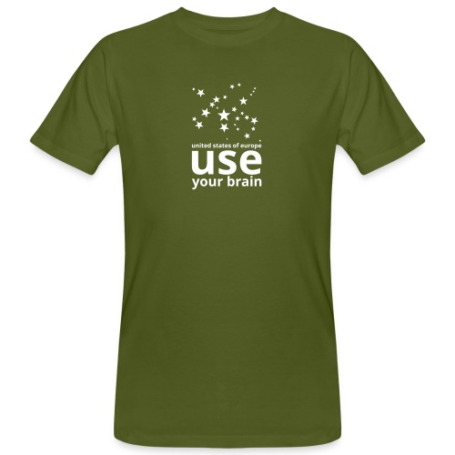 united states of europe - use your brain  - Männer Bio-T-Shirt