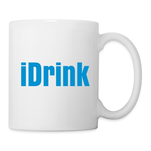 Idrink , blue text - Mug