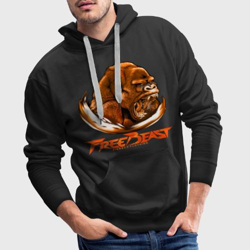 VINRECH CLOTHING - FREE BEAST - GORILLA BROWN - Sweat-shirts noir Homme - Sweat-shirt à capuche Premium pour hommes