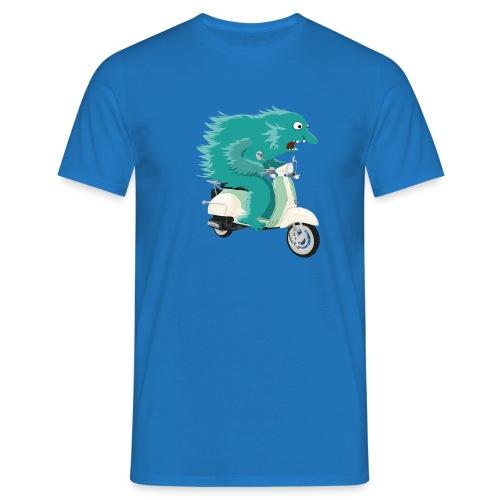 Monster Riding Vespa Men T-Shirt blue - Men's T-Shirt