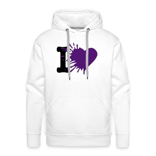 I LOVE - Sweat-shirt à capuche Premium pour hommes