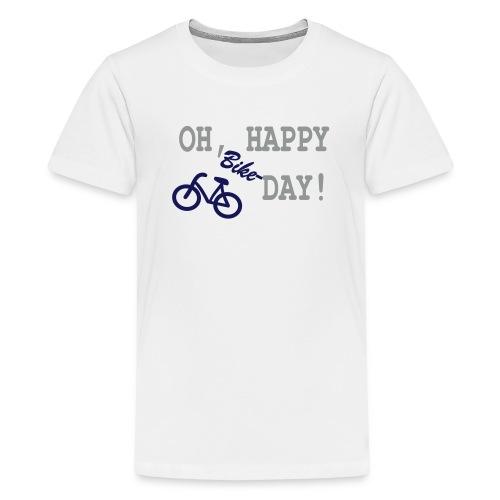 Teenager T Shirt: Oh Happy Bike Day - Teenager Premium T-Shirt