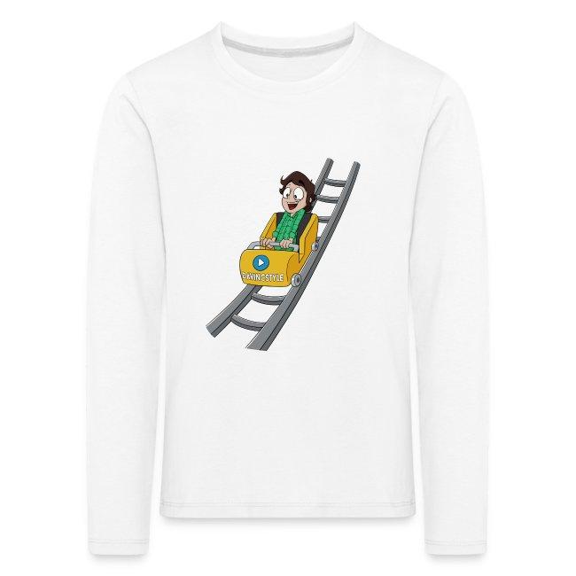 Vincent in achtbaan - Shirt lange bouw (KINDERMAAT)