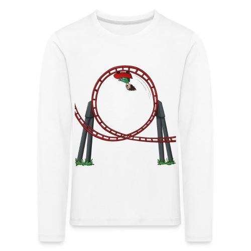 Vincent in achtbaan 2 - Shirt lange bouw (KINDERMAAT) - Kinderen Premium shirt met lange mouwen