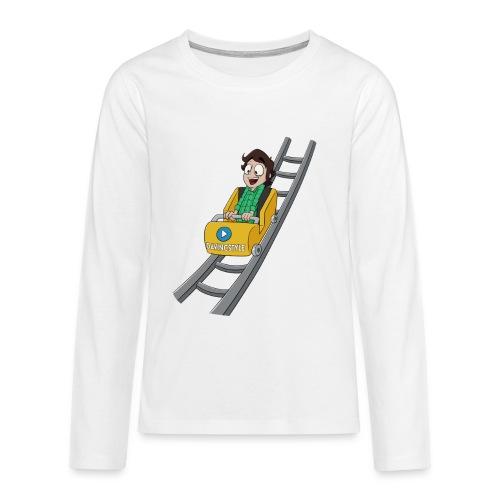 Vincent in achtbaan - Shirt lange bouw (PUBER) - Teenager Premium shirt met lange mouwen
