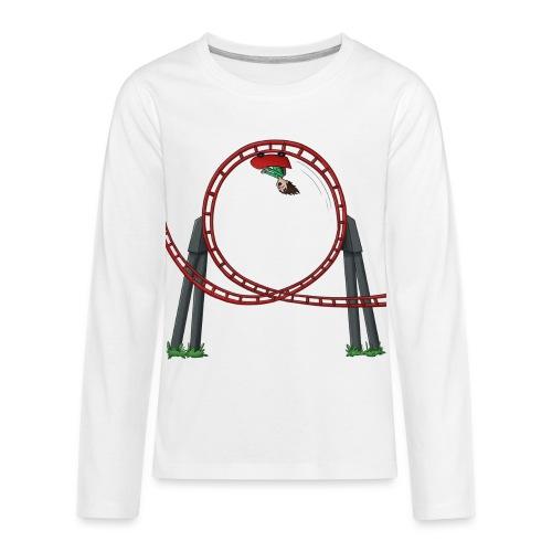 Vincent in achtbaan 2 - Shirt lange bouw (PUBER) - Teenager Premium shirt met lange mouwen