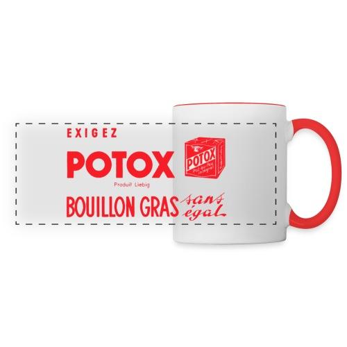 POTOX Bouillon Gras Mug - Mug panoramique contrasté et blanc