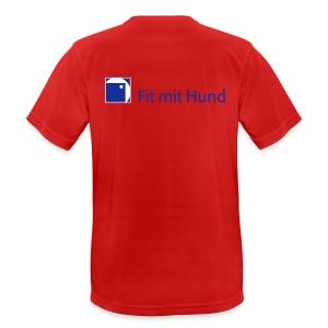 Fit mit Hund® Herren-T-Shirt helle Farben (normaler Schnitt) - Männer T-Shirt atmungsaktiv