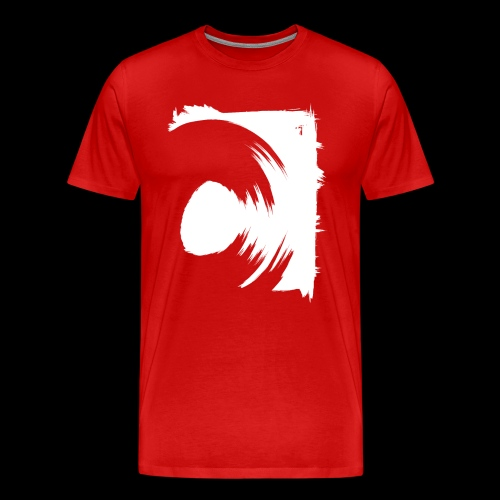 Spin (abstraktes C / Schallplatte) - Premium-T-shirt herr
