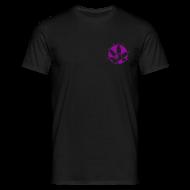 T-Shirts ~ Männer T-Shirt ~ Caregiver T-Shirt Lila/Sparkle mit Rückenaufdruck