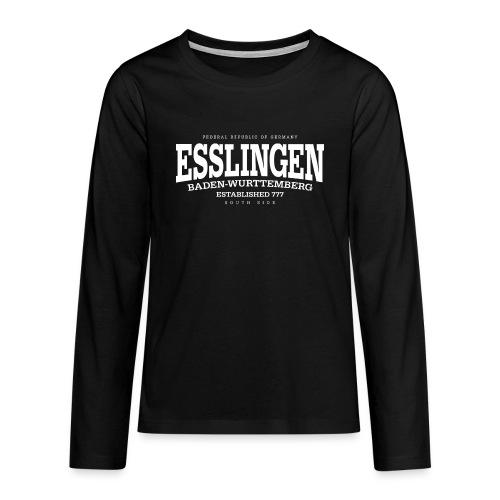 Esslingen (white Edt. '13) - Teenager Premium Langarmshirt