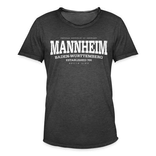 Mannheim (white oldstyle Edt. '13) - Männer Vintage T-Shirt