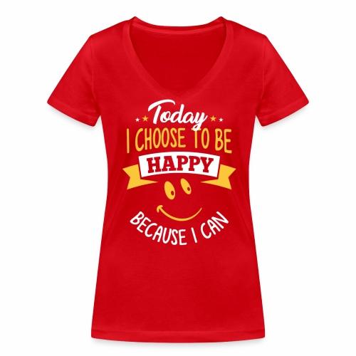 Bio T-shirt met print voor vrouwen - Vrouwen bio T-shirt met V-hals van Stanley & Stella