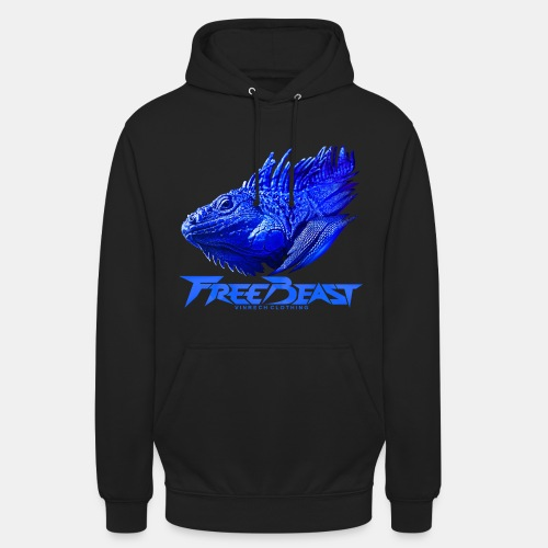 VINRECH CLOTHING - FREE BEAST - IGUANA BLUE - Sweat-shirts homme - Sweat-shirt à capuche unisexe