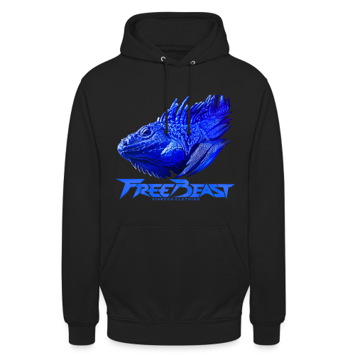 VINRECH CLOTHING - FREE THE BEAST - IGUANA BLEU - Sweat-shirts femme - Sweat-shirt à capuche unisexe