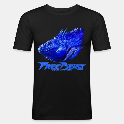 VINRECH CLOTHING - FREE BEAST - IGUANA BLUE - T-shirt homme - T-shirt près du corps Homme