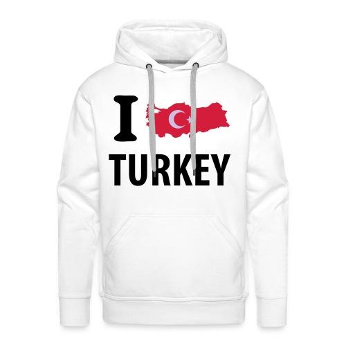 I LOVE YOU TURKEY - Sweat-shirt à capuche Premium pour hommes