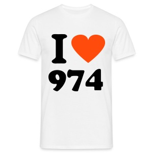 I Love 974 1  - T-shirt Homme