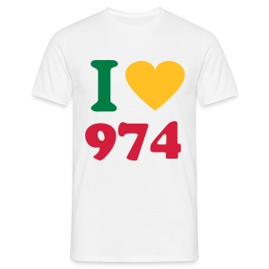 I Love 974 2 - T-shirt Homme