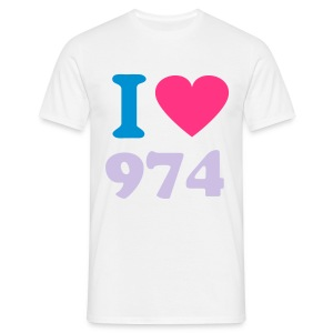 I Love 974 3 - T-shirt Homme