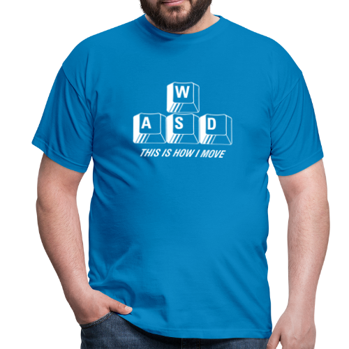T-shirt, WASD This is how I move - T-shirt herr