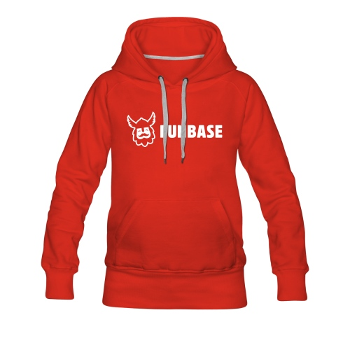 Funbase Hoodie - White logo on multiple colors - Women - Women's Premium Hoodie