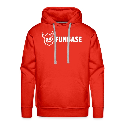 Funbase Hoodie - White logo on multiple colors - Men - Men's Premium Hoodie