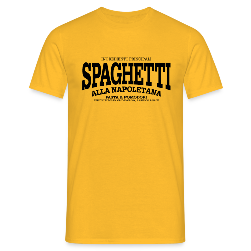 Spaghetti alla Napoletana (schwarz) - Männer T-Shirt