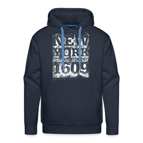 New York Staten Island 1609 (white) - Männer Premium Hoodie