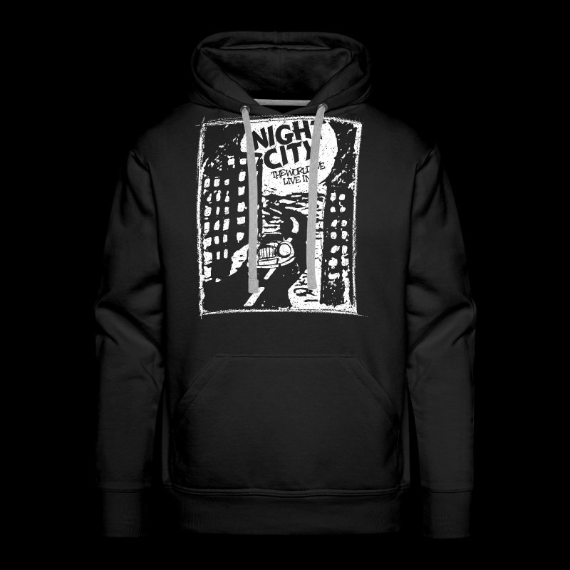 Night City (1c white) - Men's Premium Hoodie