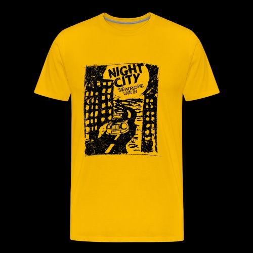 Night City (1c black) - Premium T-skjorte for menn