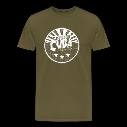 Cuba Libre (1c white) - Herre premium T-shirt