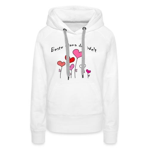 Beste Mama der Welt Herzblumen bunt - Frauen Premium Hoodie