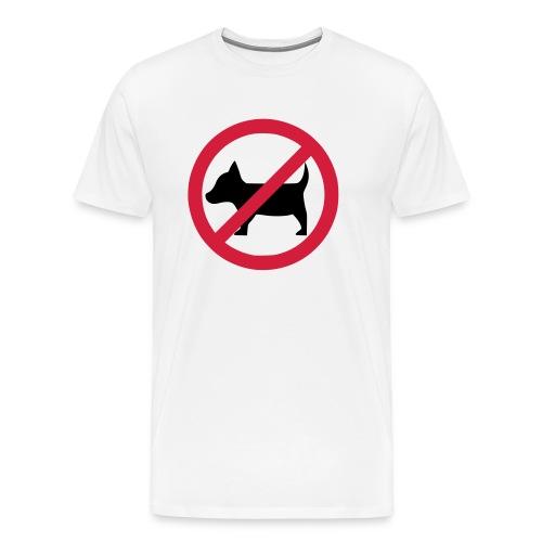 No dogs! - Anti-Hunde-Shirt - Männer Premium T-Shirt