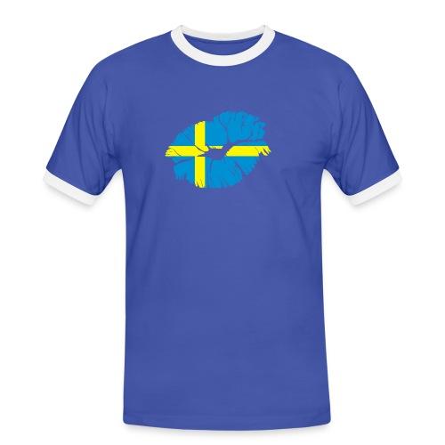 Sport-tröja - Kontrast-T-shirt herr