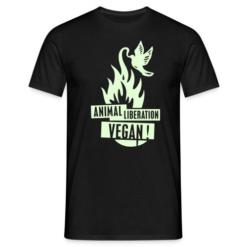 Mens 'ALV + vegan', beidseitig GLOW - Männer T-Shirt