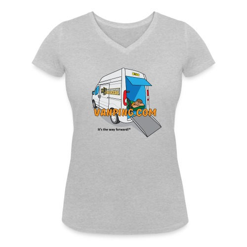 Vanping T Shirt (Ladies) front logo - Women's Organic V-Neck T-Shirt by Stanley & Stella