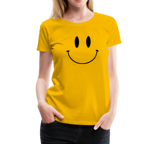 T-shirt, dam Premium, Original Smiley Face - Premium-T-shirt dam