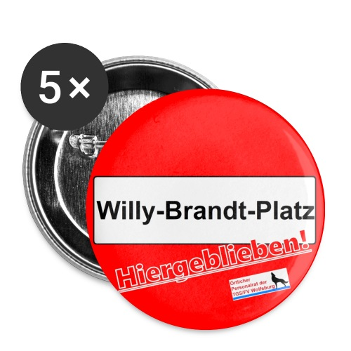 Button Hiergeblieben! - Buttons mittel 32 mm