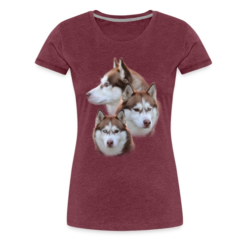 Husky Collage 02 - Frauen Premium T-Shirt