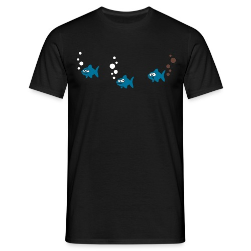Underwater Fart Men T-Shirt black - Men's T-Shirt