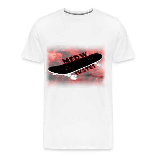Skateboard logo white - Men's Premium T-Shirt