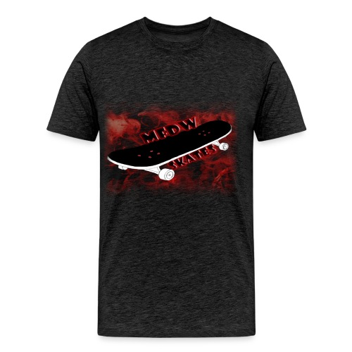 Skateboard logo dark grey - Men's Premium T-Shirt