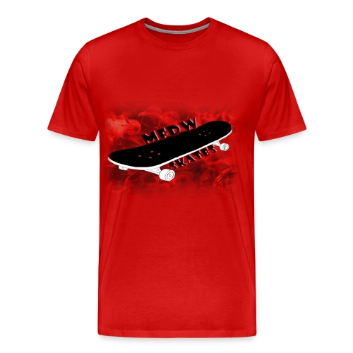 Skateboard logo red - Men's Premium T-Shirt