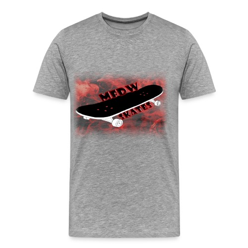 Skateboard logo light grey - Men's Premium T-Shirt